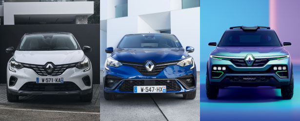 Renault Captur, Clio and Kiger