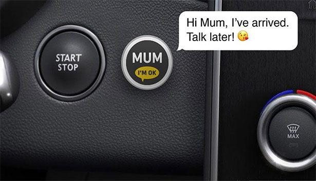 Renault's one-touch solution to letting mum know that you're safe