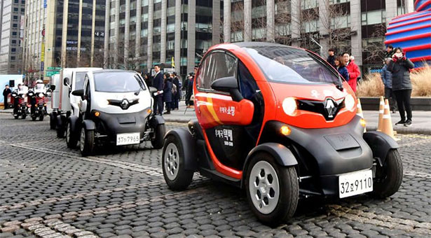 Renault Twizy - The New Face of The Seoul Post Office